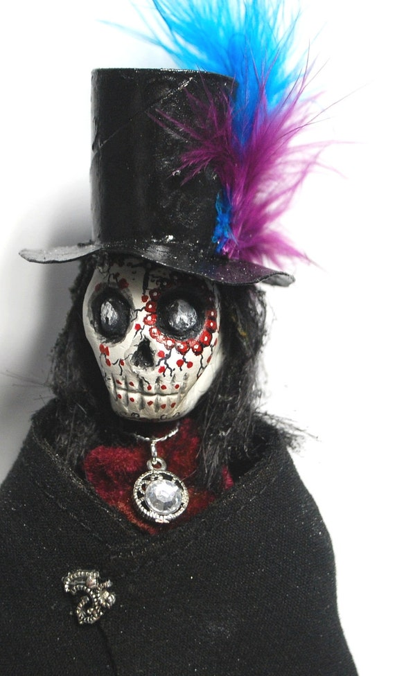 Halloween day of the dead doll skeleton death reaper