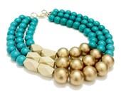 Royal Equatorial// bib necklace