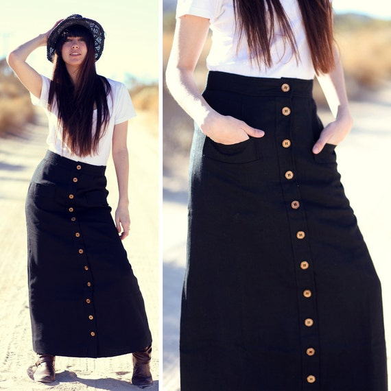 High waisted skirt with buttons – Cool novelties of fashion 2017 ...