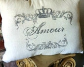 French Shabby Amour Pillow