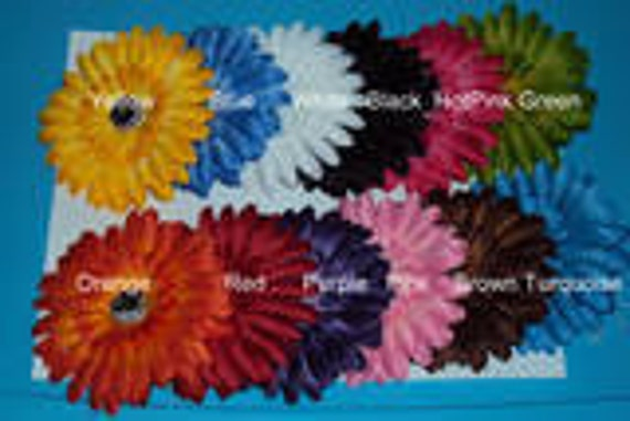 15 Pc Wholesale lot Daisy Flower Heads for Hair Accessories or  Crochet Headband