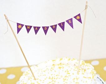 "Rapunzel ""HAPPY BIRTHDAY"" Sun Mini Cake Bunting Printable"