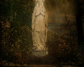 Photo print entitled Madona in the Garden by Moonlight
