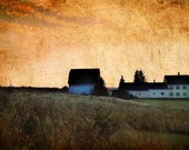 Aroostook County Maine Farm Farmhouse Sun Goes Down in God's Country