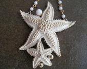 White Starfish Florenza Necklace