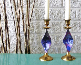 Twisted Candlesticks Decoupage Pair