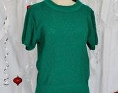 Vintage Short Sleeve Sweater // Size Small / Medium