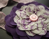 45% 0ff-Cyber Monday Sale- Deep Purple and Pale Pink Blooming on Gray Skie