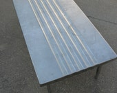 RESERVED for Andy  Industrial steel coffee table
