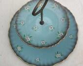 Vintage James Kent Old Foley 2 tier serving plate cake plate