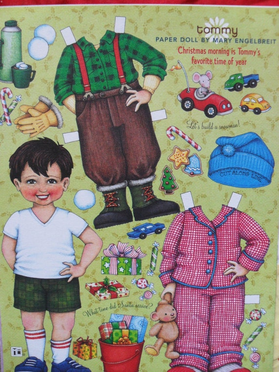 Mikayla, Tommy and Josephine paper dolls by Mary Englebreit