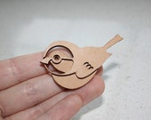 Laser cut Bird Brooch