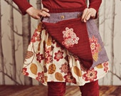 Hazel Twirl Skirt with Reversible Apron PDF Pattern & Tutorial, All sizes 2t- 7years included