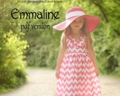 Emmaline Maxi Dress PDF Pattern Tutorial,  Ebook, Epattern, Sizes 2T-10 included.