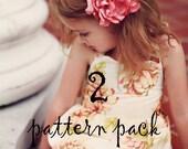 Combo Pattern Pack- Viola Sweetheart Dress & Nadine Flower