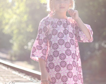 Audrey Dress PDF Pattern & Tutorial, {Peasant Dress Style} All Sizes 12 months - 10 years Included