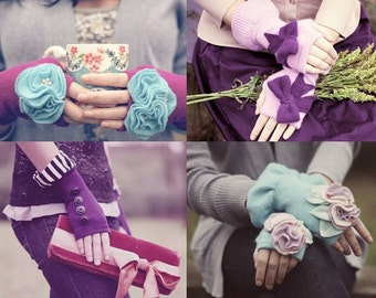 Coco Mittens sizes Child - Adult, Fingerless Mitten PDF Pattern, Easy How to Tutorial,
