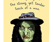 Witch 5x7 Print of Original Painting with phrase
