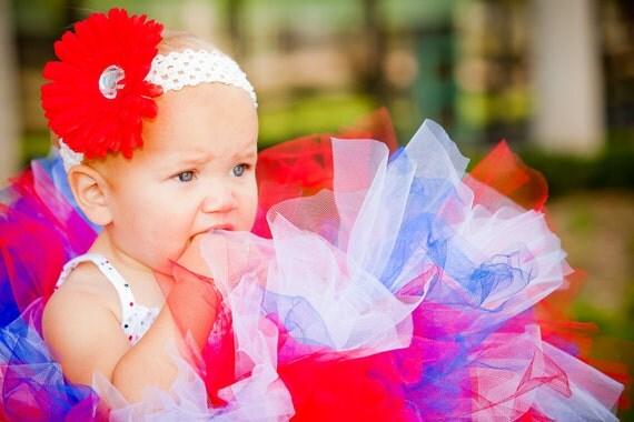 Toddler Tutu:  RED, WHITE, & BLUE Patriotic 4th of July Tutu
