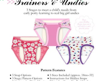 Big Girl Trainers and Undies PDF Pattern