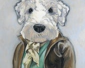 THEO  - Matte Print - 5 x 7 - From Painting by Heather Mattoon