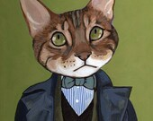 Kong- 24 x 30 cm Matte Print -Cats In Clothes by Heather Mattoon