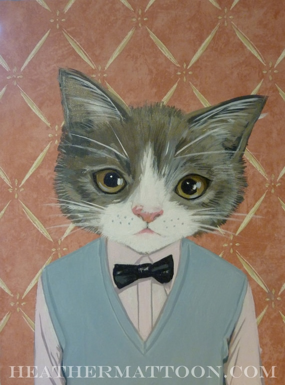 SALE - Morris- Fine Art Giclee Print From Painting by Heather Mattoon