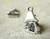 Antique Silver Home Is Where The Heart Is Charms 15x10mm - 20Pcs - DF21232