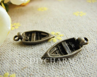 Antique Bronze Speedboat Charms 8x22mm - 20Pcs - DC21896