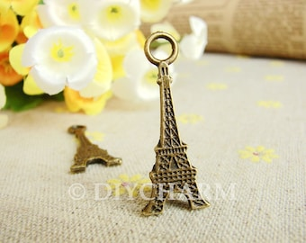 Antique Bronze Eiffel Tower Charms 12x32mm - 20Pcs - DC20680