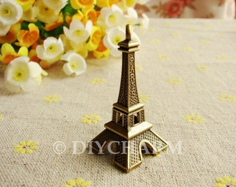 Antique Bronze 3D Paris Eiffel Tower Charms Huge Size 22x47mm - 5Pcs - DC22170