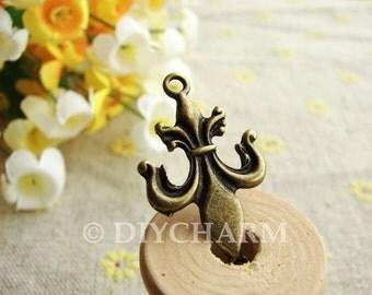 Antique Bronze Lovely Symbol Charms 18x31mm - 10Pcs - FI23355