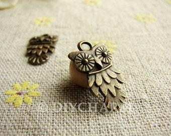 Antique Bronze Lovely Owl Charms 11.5x20mm - 20Pcs - DC23476