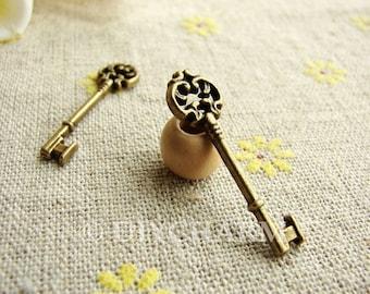 Antique Bronze Key Charms 9x30mm - 20Pcs - DC23578