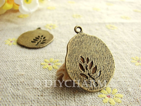 Antique Bronze Lovely Tree Charms 23x25mm - 5Pcs - DC23252