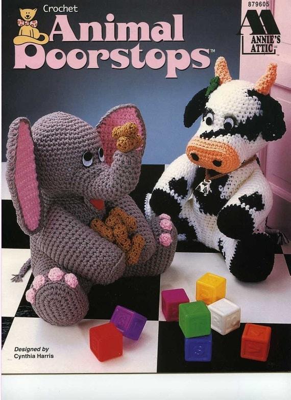 Crochet Animal Doorstops Pattern Book by Annie's Attic -1996