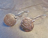 Circles of Spirals Silver Earrings
