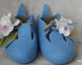 Handmade felted MERINO wool slippers