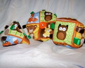 Three Soft Plush Animal Lover- Safe Baby Toys-Great Nursery Decorations