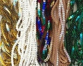 Sequins by the Yard - Gold, White, Multi, Beige, & Green Mixed Bag 35 Yards A185