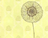 Print of Flower drawing on pattern paper