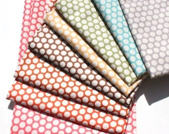 Kei Honeycomb Japanese Fabric 8 Fat Quarters Bundle