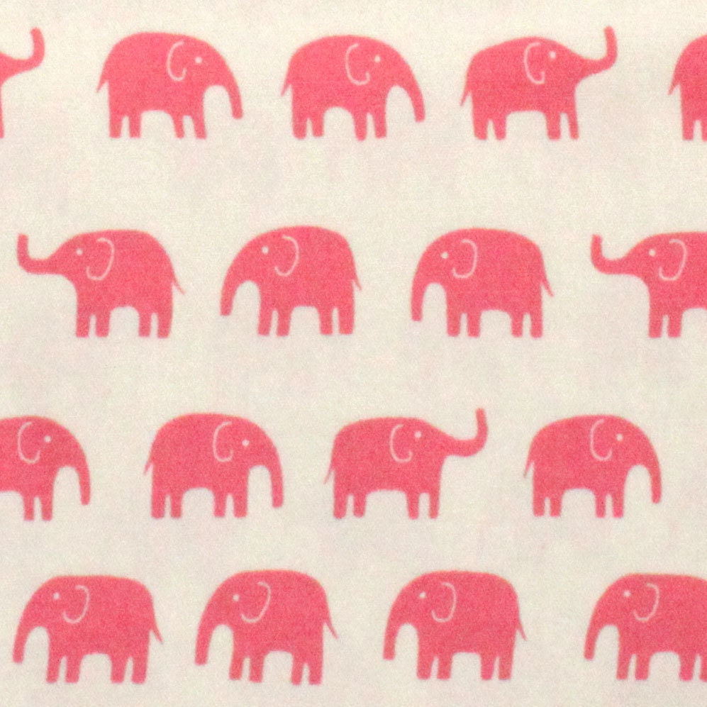 1 yard japanese elephant fabric in pink light weight cotton for Baby nursery fabric