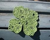 Lace Shamrock Bookmark, Lace Shamrock Ornament, Machine Embroidered Shamrock, Embroidery Irish Lace, St Patricks Shamrock