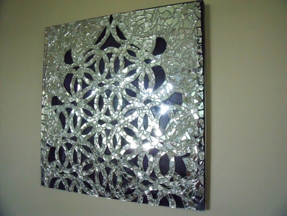 Mirror Mosaic Wall Art mirror mosaic geometric art modern decor wall sculpture