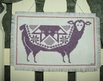 Wall Hanging cross stitch A Serious SHEEP