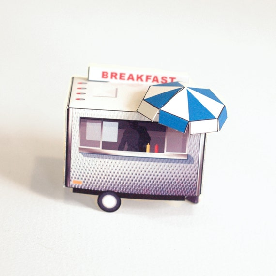 Food Cart - papercraft toy food truck