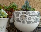 Finel Arabia bowl mushroom enamel finland