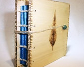 Wooden Feather Handmade blank journal