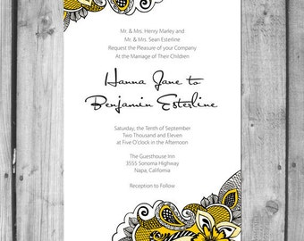 Paisley Wedding Invitation Set